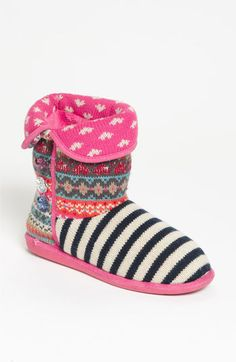 Yeah, we'll be cozying up to these all winter long.    Slippers from Steve Madden @Nordstrom