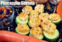 Pineapple Shrimp Cucumber Poppers!
