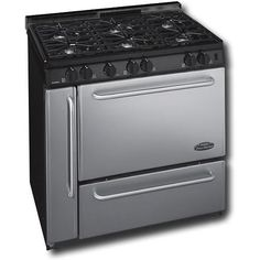 Premier Pro Series P36S318BP 36 Inch Gas Range With Electronic Ignition And 6 Sealed Burners 1 1/2 Inch Vent Rail Cap - Stainless Steel
