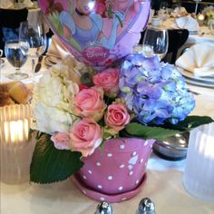 Bridal shower Disney princess theme- centerpieces - made by Marisa!