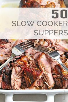 50 Slow Cooker Recipes for Supper gives you plenty of weeknight dinner ideas and recipes perfect for back to school and other busy nights! // addapinch.om