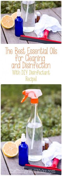 Avoid toxic cleaners by making DIY cleaning products and homemade disinfectants using the best essential oils for cleaning and disinfecting.