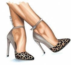 Shoe illustration - fashion artwork - red bow heels - fashion illustration print - gifts for her - birthday present - mothers day - shoe art Fashion Artwork, Fashion Design Drawings, Fashion Sketches, Fashion Prints, Fashion Illustration Shoes, Shoe Illustration, Stiletto Heels, High Heels, Shoes Heels