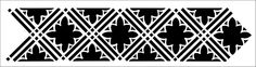 Border No 10 stencil from The Stencil Library GOTHIC, MEDIEVAL AND TUDOR range. Buy stencils online. Stencil code GMT10.