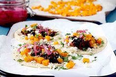 Beer Braised Bison Tacos with Roasted Butternut Squash Recipe