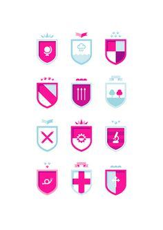 fuschia! coat of arms!