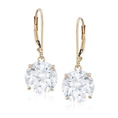 8.00 ct. t.w. CZ Drop Earrings in 14kt Yellow Gold . Free shipping & easy 30-day returns. Fabulous jewelry. Great prices. Since 1952.
