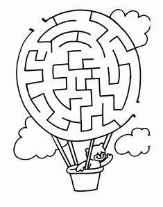 Printable Mazes for Kids. - Best Coloring Pages For Kids Mazes For Kids Printable, Fun Worksheets For Kids, Preschool Worksheets, Kindergarten Activities, Free Printables, Kids Mazes, Kids Puzzles, Printable Coloring, Maze Worksheet