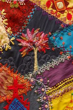 i have always loved crazy quilts.  if only my mean ex sister in law hadn't taken my grandma's...