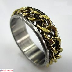 Stainless Steel Gold Color Plated Cut-out Spider Web Fancy Dome Ring