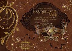Masquerade Party Invitation Mardi Gras Party Party by BellaLuElla, $10.00