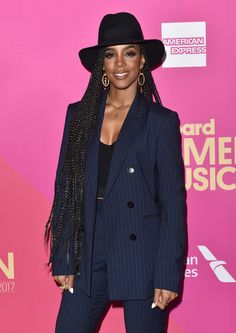 Kelly Rowland Braids with hat Every Time Celebrities Nailed the Long-AF H. - 2020 Fashions Woman's and Man's Trends 2020 Jewelry trends Celebrity Nails, Celebrity Style, Kelly Rowland Style, Kelly Rowland Hair, Billboard Women In Music, Curly Hair Styles, Natural Hair Styles, Boxer Braids, Inspiration Mode