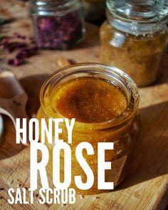 Honey Rose Salt Scrub Recipe
