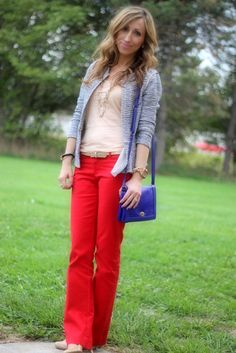 Lilly's Style...red pants and blazer