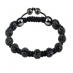 Black and Pink Shamballa Bracelet