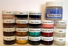 My favorite reborning paints, Genesis Heat Set Paints.