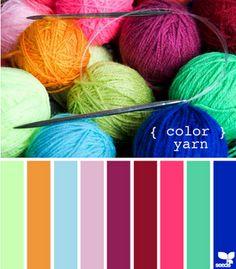 color yarn...minus those dastardly knitting needles >:(