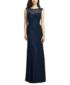 DescriptionDessy Collection2940 Fulllength bridesmaid dressSleevelesswith illusion lace necklineOpen backFlared trumpet skirtMarquis LaceDesignerThe Dessy Group was originally known as A