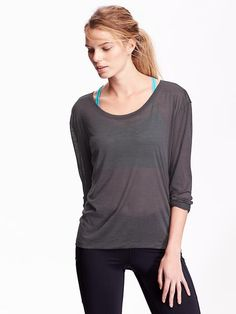 Medium/any color:Active Crepe Tee