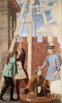 Piero della Francesca. 6. Torture of the Jew (1458-66). Fresco, 356 x 193 cm. San Francesco, Arezzo