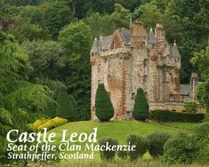 Scotland - Castle Leod, inspiration for Castle Leoch in Outlander series :-) My step-daughter Nicki got married here. It was incredible:) Diana Gabaldon Outlander Series, Outlander Book Series, Outlander Tv, Scotland Castles, Scottish Castles, Jamie Fraser, The Places Youll Go, Places To See, Beautiful Castles