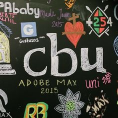 I spy with my little eye... Someone is here from my alma mater! @cbudesign is this you guys! #adobemax #cbu #doodletime