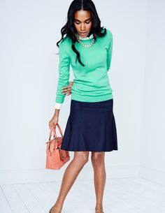Fleet Street Skirt Skirts at Boden Cute Work Outfits, Chic Outfits, British Fashion Brands, 2014 Fashion Trends, Honeymoon Outfits, Girls Dress Up, Flare Skirt, Dress To Impress, Beautiful Outfits