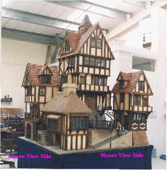 one of the most fantabulous collections of dolls houses,a village… Fairy Houses, Play Houses, Doll Houses, Miniature Rooms, Miniature Houses, Estilo Tudor, Garden Nook, Medieval Houses, Fantasy House