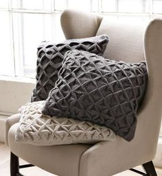 West Elm origami pillow in oatmeal - love for couch (done!)