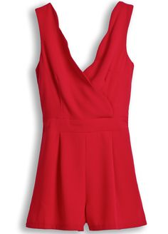 Red Spaghetti Strap Back Bow Jumpsuits pictures Red Romper, Everyday Fashion, Style Me, Fashion Beauty, Dress Up, Tulum, Rompers, Fancy, Fashion Outfits