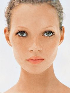 Kate Moss for Vogue UK, March, 1993- beauty