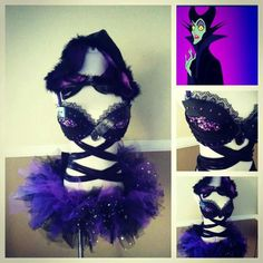 Love this maleficent Idea would tweak it a bit Clubbing Outfits, Edm Outfits, Party Outfits, Rave Ready, Rave Girls, Rave Costumes, Rave Festival, Shows, Festival Outfits
