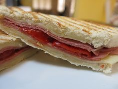 Yummy panino with Swiss cheese, turkey pastrami and peppadew peppers - The mild and nutty Swiss cheese melted and created an oasis of gooey goodness, which was the perfect vehicle for the sophisticated spiciness of the peppadew peppers. Loved it!