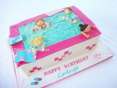 Pool Party Cake - Cake by DeliciousDeliveries Pool Birthday Cakes, Birthday Cakes For Women, 6th Birthday Parties, Summer Birthday, Spa Party Cakes, Pool Cake, Swim Cake, Swimming Cake, Pool Party Kids