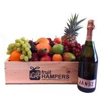 Jansz Brut Rose Sparkling Hamper  Give the gift of fruit this Christmas and show them how much you care! We specialise in fresh fruit gift hampers which are shipped Australia wide. www.igiftfruithampers.com.au #christmasgifthampers #christmashampers #corporatehampers #corporategifts
