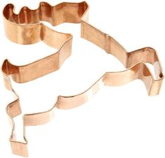 Amazon.com: Old River Road Reindeer Shape Cookie Cutter, Copper: Kitchen & Dining