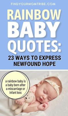 A stillbirth is a great shock, but a rainbow baby arrives as a miracle. These rainbow baby quotes depict the feelings perfectly. Newborn Baby Quotes, Cute Baby Quotes, Baby Girl Quotes, Son Quotes, Daughter Quotes, Rainbow Baby Quotes, Baby Captions, Father And Baby, Baby Smiles