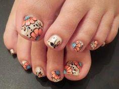 Image viaToenail DesignsImage viaCool & Pretty Toe Nail Art Designs & Ideas For Beginners .Image via Pretty Toe Nail Art D Fancy Nails, Love Nails, How To Do Nails, Pretty Nails, My Nails, Pretty Toes, Beautiful Toes, Jamberry Nails, Nails Polish