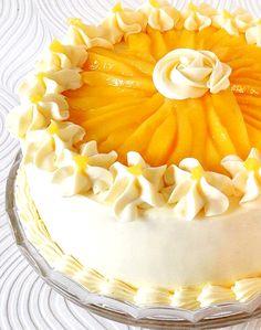 Buttercream Mango Cake – Mama's Guide Recipes , Receitas Gostosas – Yemek Tarifleri – Resimli ve Videolu Yemek Tarifleri Pumpkin Recipes, Cake Recipes, Pumpkin Yogurt, Cake Decorating Icing, Mango Recipes, Mango Dessert Recipes, Cake Ingredients, Buttercream Cake, Frosting