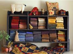 I want a wool stash like this!