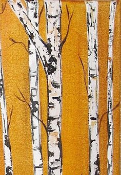 What if clothes could be art? Distressed denim as birch trees.