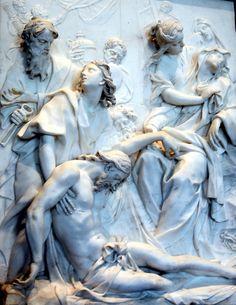 5-25-13 Pierre-Etienne Monnot Christ & Mary marble bas relief | Flickr : partage de photos !