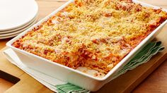 Garlic Cheddar Chicken Bake This fun mash-up of chicken Parmesan and lasagna is an easy and delicious dish to prepare for your weeknight dinner. Tasty Dishes, Food Dishes, Main Dishes, Side Dishes, Dinner Dishes, Oven Ready Lasagna, Pillsbury Recipes, Pillsbury Dough, Chicken Recipes