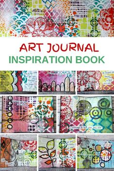 Make a little mini book from DIY art journal pages. Learn how to use different techniques to create this colorful inspiration book Therapy Journal, Art Therapy, Old Book Art, Art Journal Inspiration, Journal Ideas, Art Journal Pages, Art Journaling, Art Journal Tutorial, Bohemian Art