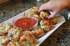 Pizza Puffs! Your choice of meat, cheese, other pizza toppings, with a whole wheat breading..Quick, easy, and healthy! Use whole wheat flour... good finger-food!