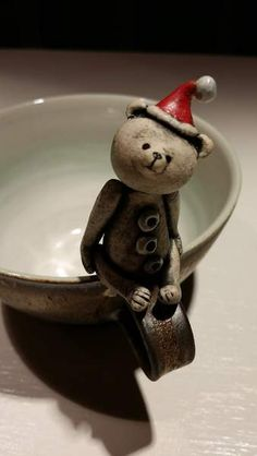 Coffee / Tea Cup with 'Santa' Bear By Kai Eckenbach - Bear Pile