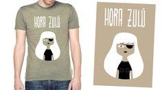 #COMIC #ILUSTRACION #CROWDFUNDING #VERKAMI - Camiseta Chico - HORA ZULÚ by Sandra Uve y @Frigo Fingers - Hora Zulú es un proyecto de cómic de Sandra Uve. Una novela gráfica, de 144 páginas, en formato rústica, 17 x 24 cm, B/N y portada serigrafiada sobre cartulina Kraft.   +INFO: http://frigofingers.com y http://sandrauve.wordpress.com  CAMPAÑA verkami www.verkami.com/projects/3821