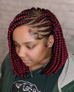 # Braids hairlook diy Box Braids Bob Hairstyles for African American Women Discover the best and latest models and styles of short hairstyles, box braids, braided hairstyles, Braids styles Short Box Braids Hairstyles, Bob Box Braids Styles, Box Braids Styling, African Braids Hairstyles, Bob Hairstyles, Curly Hair Styles, Natural Hair Styles, Layered Hairstyles, African Hair Braiding
