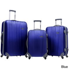 Traveler's Choice Toronto 3-piece Hardside Expandable Spinner Luggage Set | Overstock.com Shopping - The Best Deals on Three-piece Sets