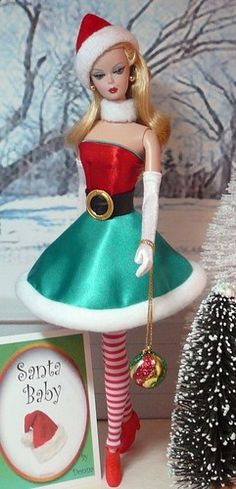 Costumes for Holidays Barbie Christmas Elf